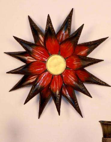 Multicolour Metal Sun Flower Wall Hanging