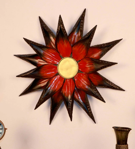 Multicolour Metal Sun Flower Wall Hanging