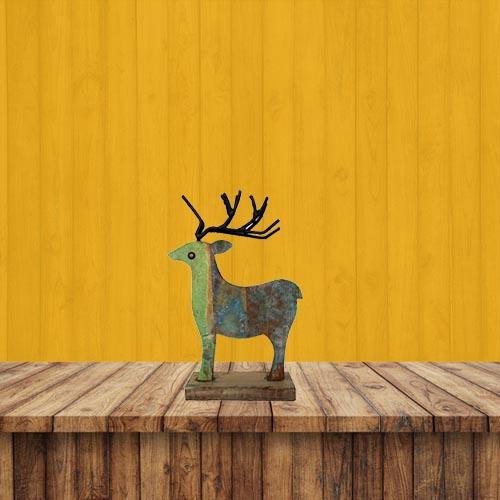 Recycled Scrap Wooden Deer