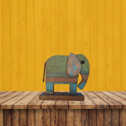 Recycled Scrap Wood Elephant