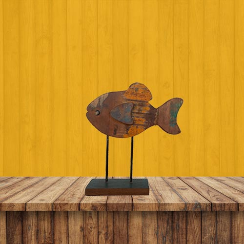 Recycled Wooden Standing Fish