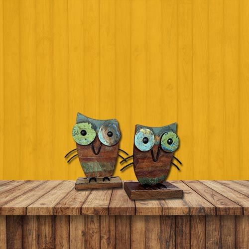 recycled-decor-owl-set-of-two
