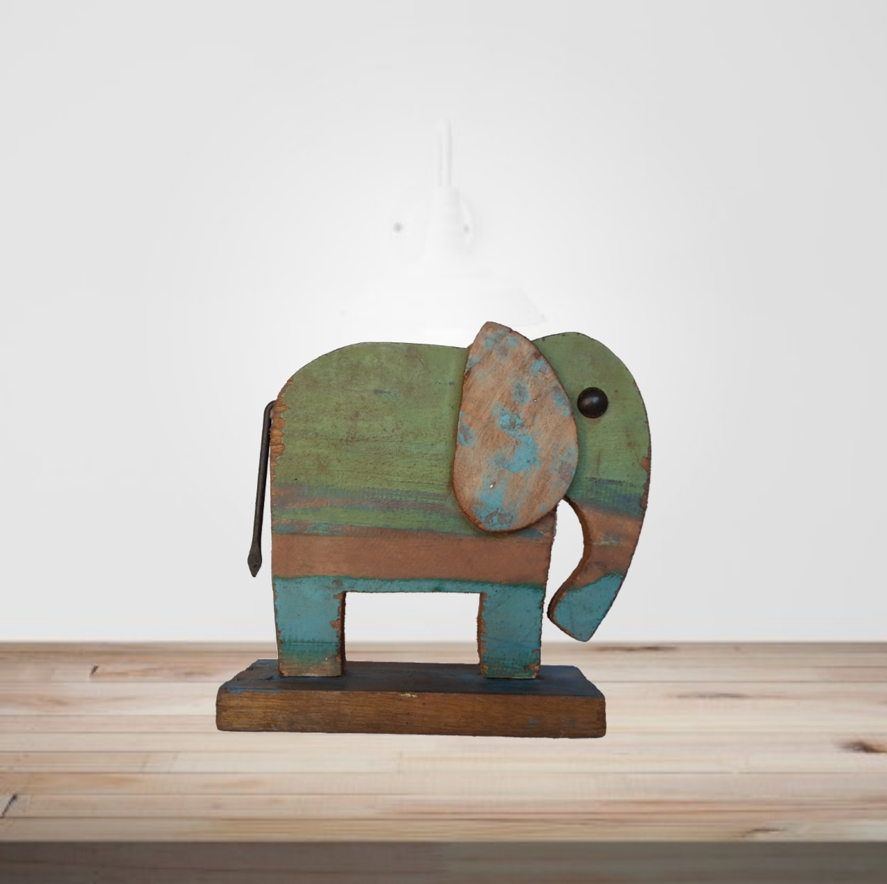 Recycled scrap wood elephant kraphy for Reusable wood