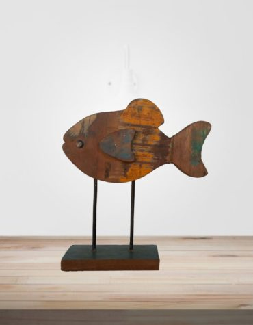 recycled wooden fish