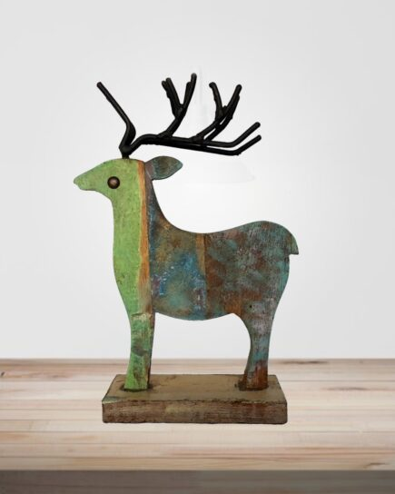 Recycled Scrap Wood Deer