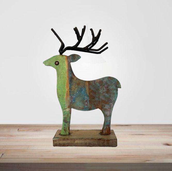 Recycled Scrap Wood Deer