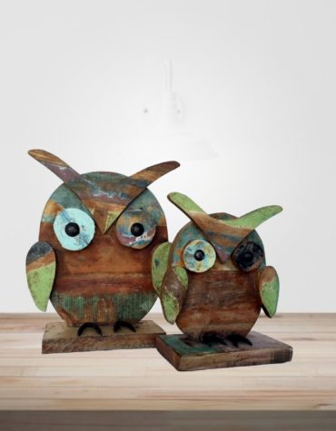 recycled wooden owl