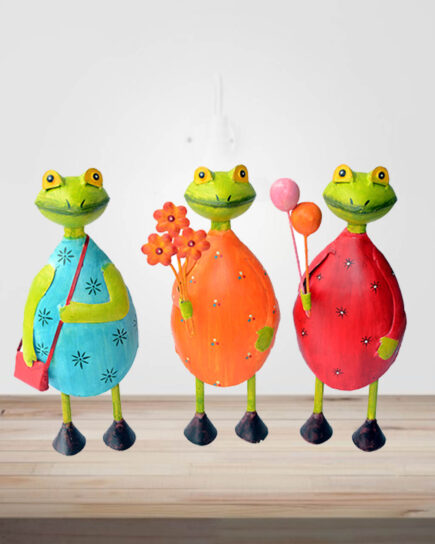 Frog Balloun Style Set Of Three Piece