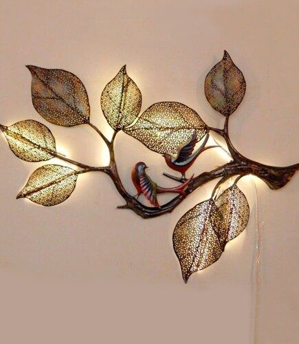 Wall Decor Tree Two Birds With LED