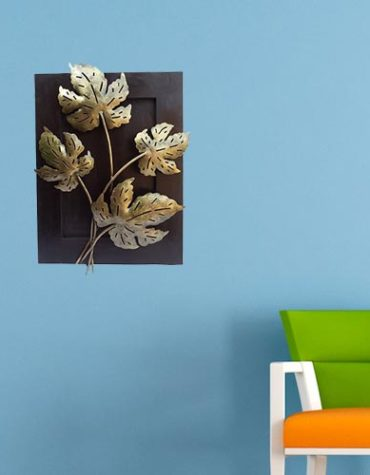 iron-wooden gold finish leaf wall panel