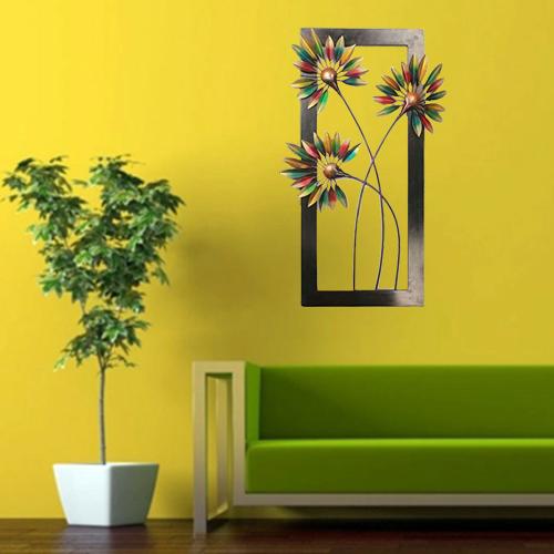 Iron & Wood Handicraft Wall Decor Palm Leaf Frame by kraphy