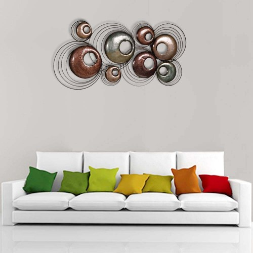 Multicolored Circles Metal Wall Decor