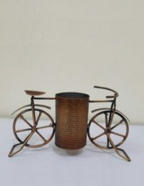 Vintage Cycle Shaped Pencil Holder Table Decor