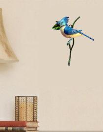 Iron Hand Made Bird Cream Wall Hook