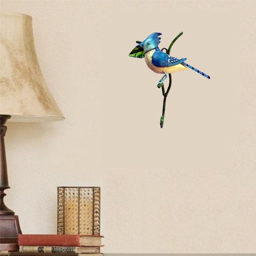 Iron Hand Made Bird Blue Wall Hook
