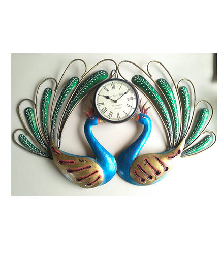 Peacock Watch Wall Panel