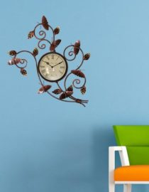 wall decor watch with gold finish