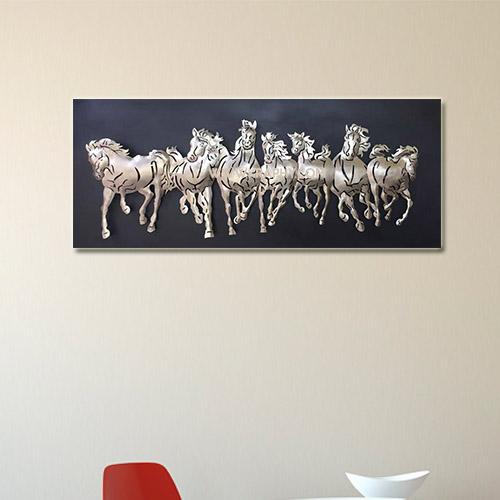 3d horse metal wall art