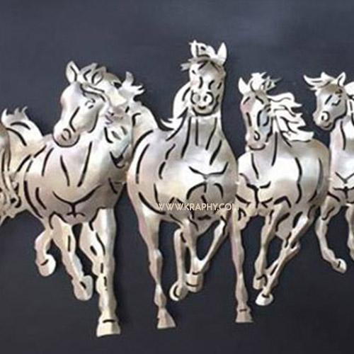 3D Horse Metal Wall Artefacts With LED
