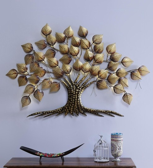Big Metal Tree With Led Light Wall Hanging Decor