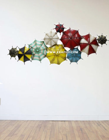 Metal Umbrella Shaped Metal Wall Hanging Decor-by-kraphy