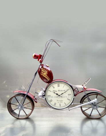 multicolor-metal-bike-with-watch-wall-hanging-decor