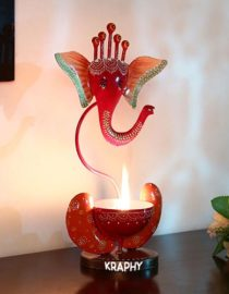 Multicolour Ganesha Tea Light Holder