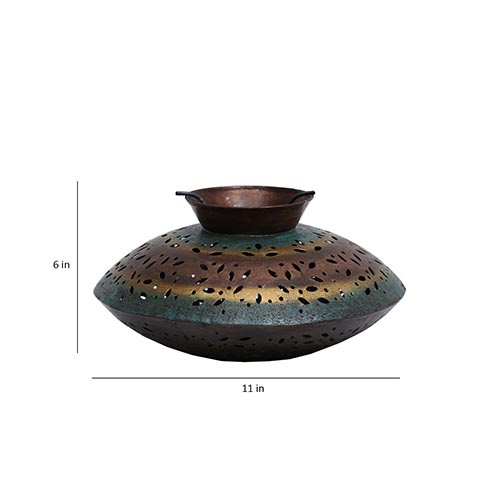 Multicolour Iron Lantern Tea Light Holder