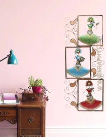 Metal Wall Decor frame with Flower