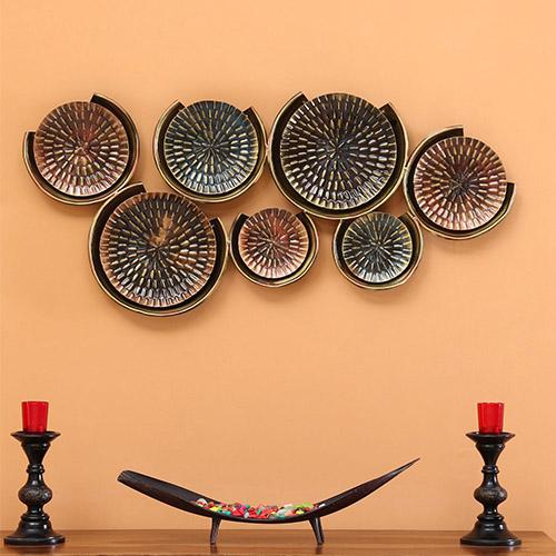 W-Elder Tin Copper Iron Round Plate
