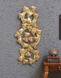 Metal Wall Hanging Gold Mirror