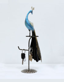 multicolour-iron-peacock-key-holder