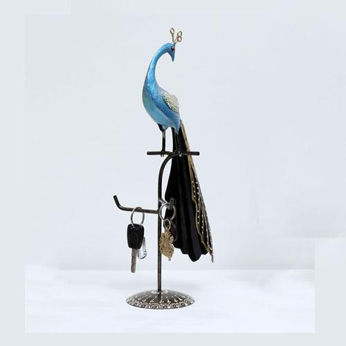 multicolour-iron-peacock-key-holder