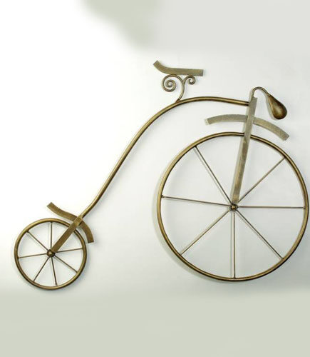 Brown Metal Ancient Wheels Wall Hanging
