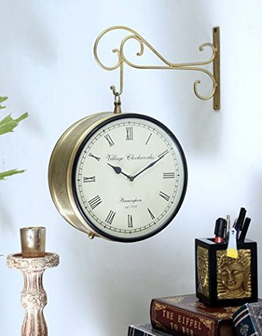 10 Inch Double Sided Railway Station Clock for Wall hanging