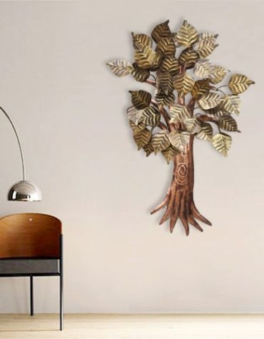 Iron Multicolor Hand Painted Wall Decor Peepal Tree