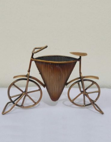Iron Painted Conical Shaped Bicycle Pen Holder