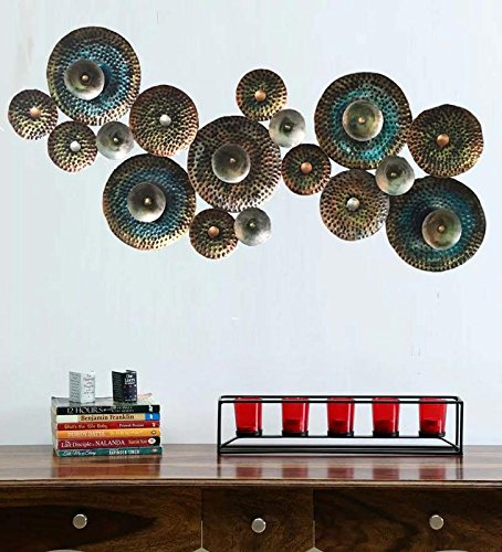 Wrought Iron Multi Circle Wall Decor Hanging