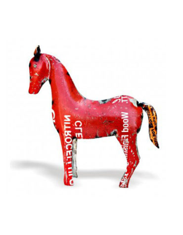 red-iron-horse-showpiece