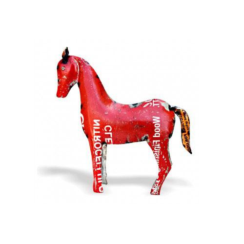 red-iron-horse-showpiece