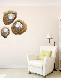 Abstract Textured Metal Wall Decor Set Of 3