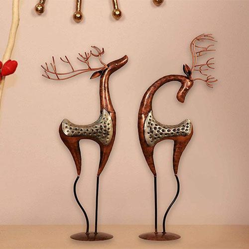 Attirant Idols U0026 Figurines Showpiece Center Piece Silver Metal Deer Showpieces For Living  Room Hall Bedroom By