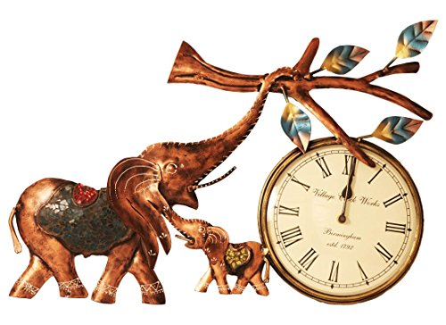 Buy Quirky Elephant Design Wall Hanging Clock Online at Low Prices in India