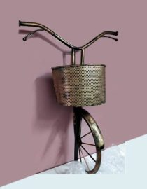 decorative-metal-cycle-with-basket-wall-hanging-by-kraphy