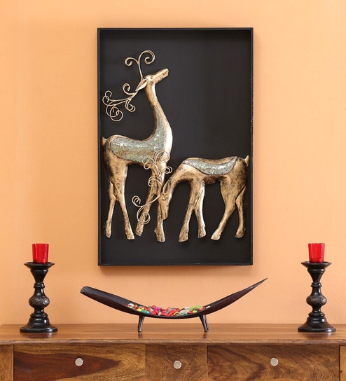 Deer Couple 3D Wall Hanging Frame Wall Decor 1