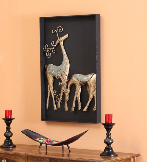 Deer Couple 3D Wall Hanging Frame Wall Decor