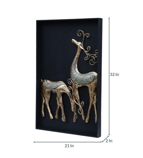 Deer Couple 3D Wall Hanging Frame Wall Decor 5