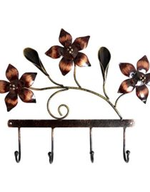 Hand Painted Iron Peacock Home Decor Hand Crafted Sculpture