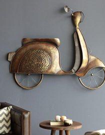 Buy Bronze Iron Scooty Hanging Wall Decor online