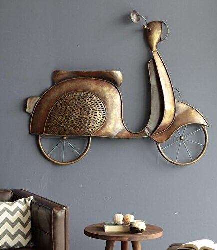 Buy Bronze Iron Scooty Hanging Wall Decor online